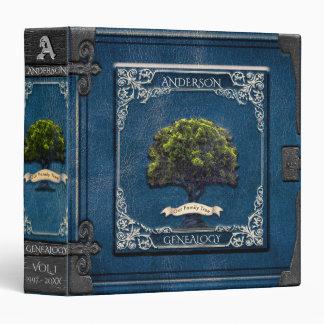 Genealogy Family Tree in Blue Binder