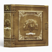 Genealogy Family Tree in GOld Binder (<em>$22.00</em>)