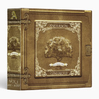 Genealogy Family Tree in GOld Binder