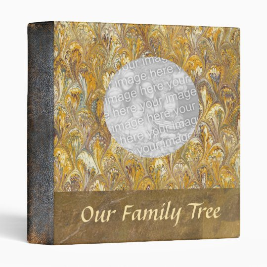 Family Tree Leather Look Photo Book 3 Ring
