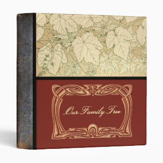 Genealogy | Family Tree Leaves Leather Look Spine Binder