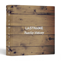 Genealogy Family Tree | Rustic Wood Family Reunion Binder