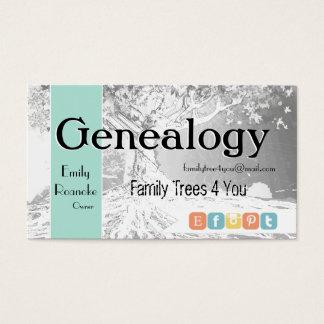 Genealogy Family Tree Social Media Icons Business Card