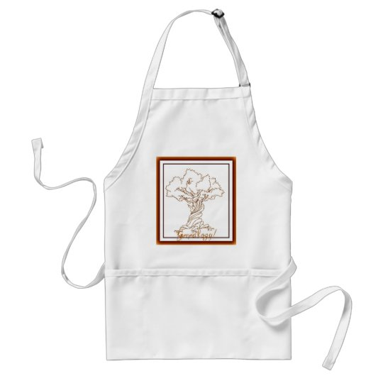 Genealogy Family Tree with a Twist Adult Apron