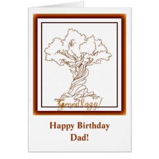 Genealogy Family Tree with a Twist Greeting Card