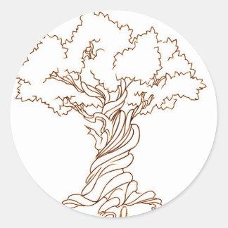 Genealogy Family Tree with a Twist Classic Round Sticker
