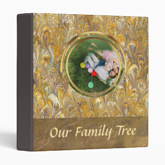 Genealogy Gold Paisley | Family Tree Leather Look 3 Ring Binder