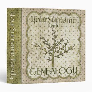 Genealogy Green Vinyl Binders