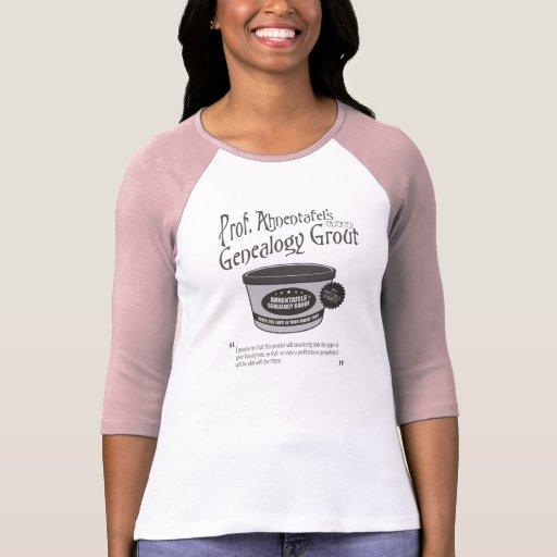 Genealogy Grout de profesor Ahnentafel Camisetas