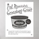 Genealogy Grout de profesor Ahnentafel Poster
