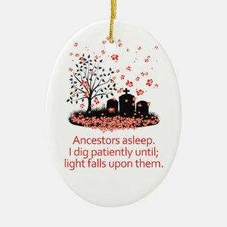 Genealogy Haiku 2012 Ceramic Ornament