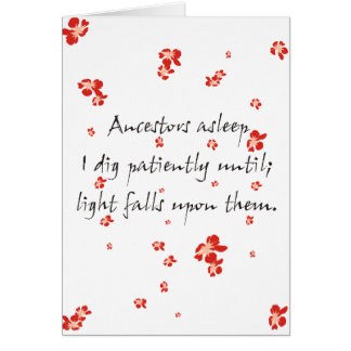 Genealogy Haiku Card
