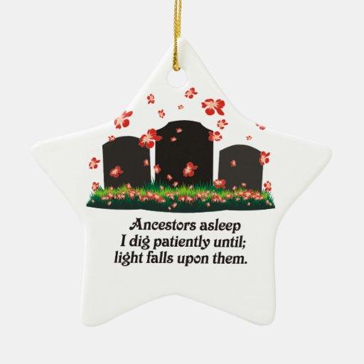 Genealogy Haiku Christmas Ornament