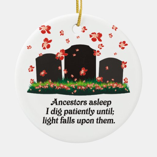 Genealogy Haiku Double-Sided Ceramic Round Christmas Ornament