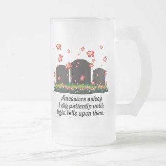 Genealogy Haiku Frosted Glass Beer Mug