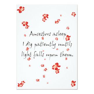 Genealogy Haiku 5x7 Paper Invitation Card