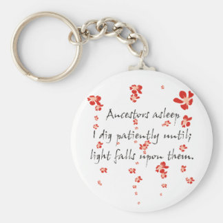 Genealogy Haiku Keychain