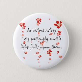 Genealogy Haiku Pinback Button