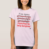 Genealogy Hobbyist tee (women)