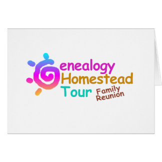 Genealogy Homestead Tour Family Reunion Invitation Stationery Note Card