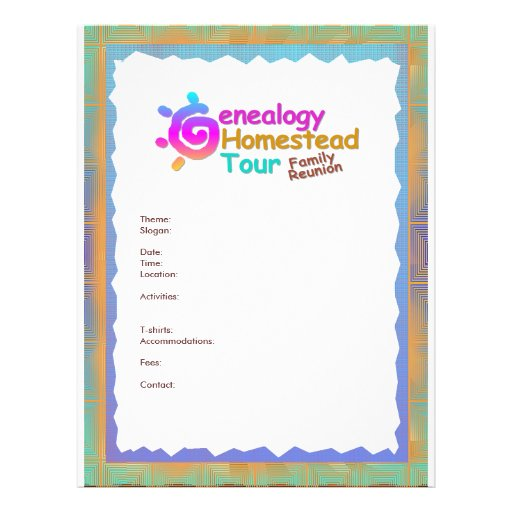 Genealogy Homestead Tour Flyer