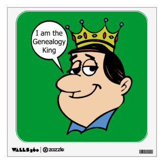 Genealogy - I Am The Genealogy King Wall Sticker
