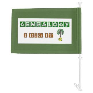 Genealogy I Dig It Car Flag