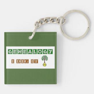 Genealogy I Dig It Keychain
