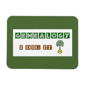 Genealogy I Dig It Magnet