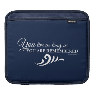Genealogy iPad Tablet Sleeve (Dark Blue)