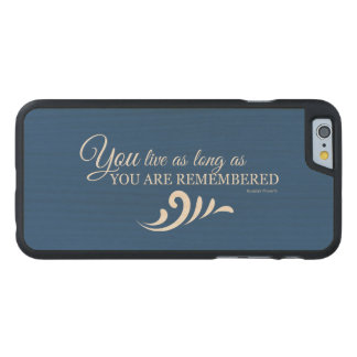 Genealogy iPhone 6 Case (Blue) Carved® Maple iPhone 6 Case
