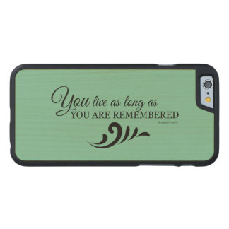 Genealogy iPhone 6 Case (Green) Carved® Maple iPhone 6 Slim Case
