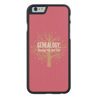 Genealogy iPhone 6 Case (Pink) Carved® Maple iPhone 6 Case