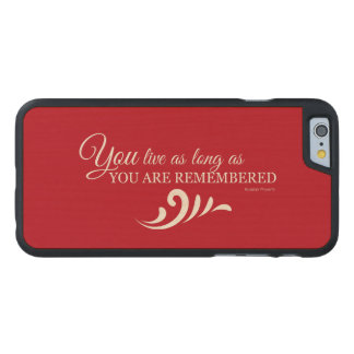 Genealogy iPhone 6 Case (Red) Carved® Maple iPhone 6 Case