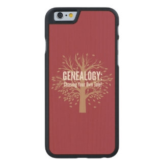 Genealogy iPhone 6 Case (Red) Carved® Maple iPhone 6 Slim Case