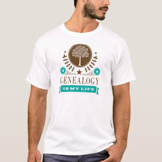Genealogy is My Life Gift T-Shirt
