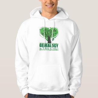 Genealogy is T-R-E-E-rific! Hooded Sweatshirt