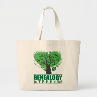 Genealogy is T-R-E-E-rific! Large Tote Bag