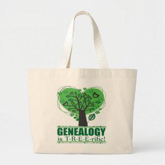 Genealogy is T-R-E-E-rific! Large Tote Bag