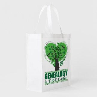 Genealogy is Treerific Reusable Grocery Bag