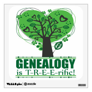 Genealogy is Treerific Wall Sticker