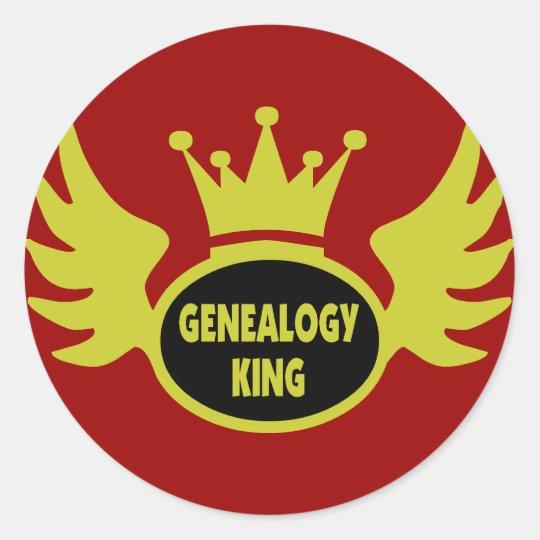 Genealogy King Classic Round Sticker