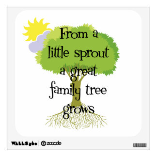 Genealogy - Litte Sprout Family Tree Wall Decals