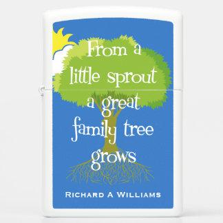 Genealogy - Little Sprout Zippo Lighter