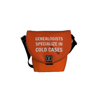 Genealogy Mini Messenger Bag (Orange)