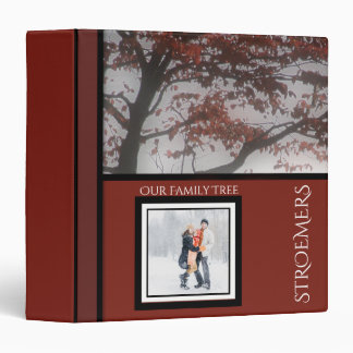 Genealogy Monogrammed Family Tree Personalized Red Binder