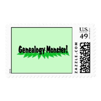 Genealogy Monster Postage Stamps