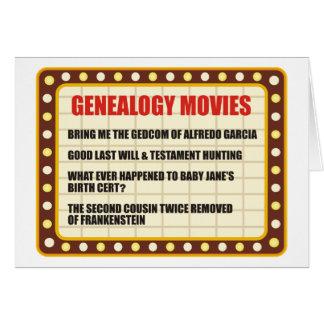 Genealogy Movie Birthday Card