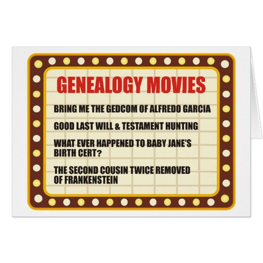 Genealogy Movies Card