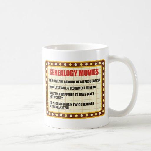 Genealogy Movies Coffee Mug